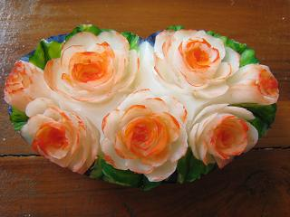 Soap Carving Flowers Heart