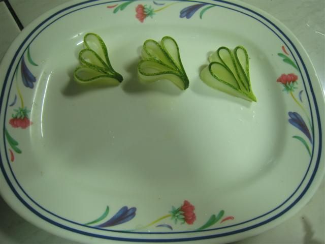 Cucumber carvings